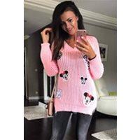 SWETER BŁĘKITNY 34001 3 Odzież damska : Swetry